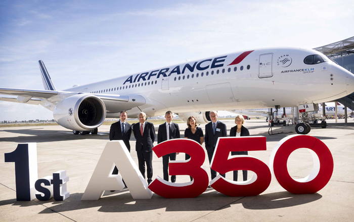 Air France Takes Delivery Of Its First A350 XWB.