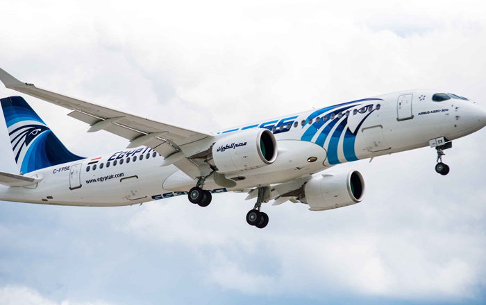 First A220 Delivery To EGYPTAIR.
