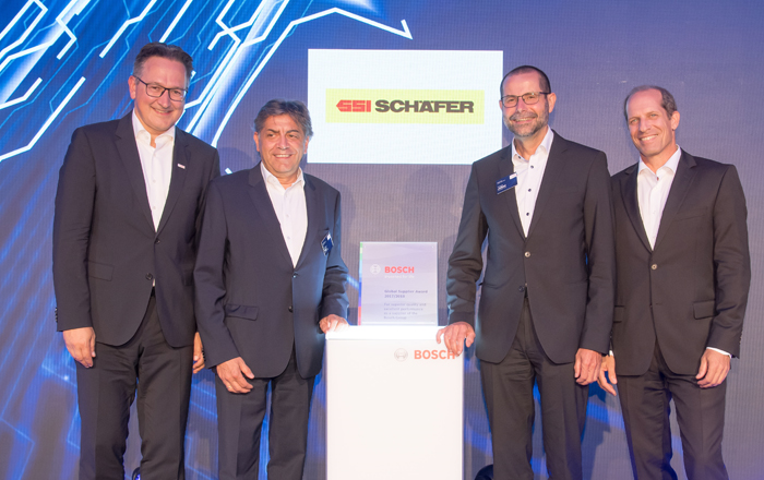 SSI Schaefer Receives Bosch Global Supplier Award.